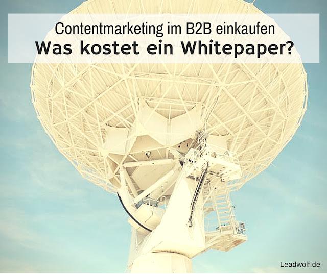 Was kostet ein Whitepaper? Content-Marketing einkaufen.