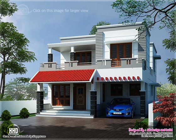 Eco Friendly Houses Modern House Elevation In 2700 Sqfeet