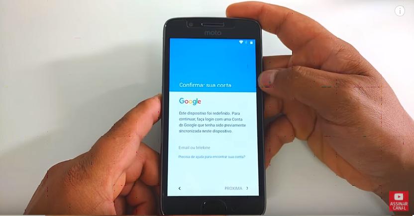 Desbloqueio Conta Google Moto G5, G5 Plus, G4, G4 Plus, Junho, Agosto, Setembro, Outubro 2017