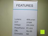 Eigenschaft: 5er CRECO® 5W E14 LED Lampe Ersatz für 45W Glühlampen 2700K Warmweiß 320 Lumen LED Kerzenlampen LED Leuchtmittel[Energieklasse A+]