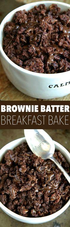 Brownie Batter Breakfast Bake