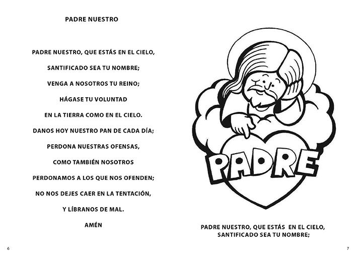 PARA COLOREAR: Oraciones del Santo Rosario para colorear