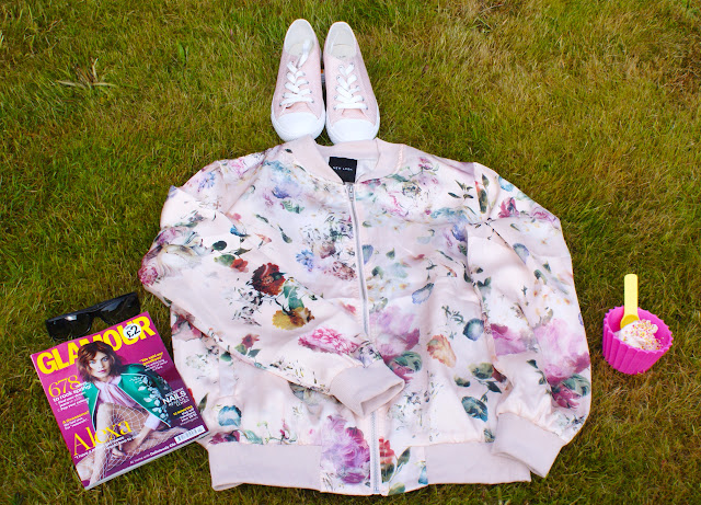 New Look Floral Bomber Jacket