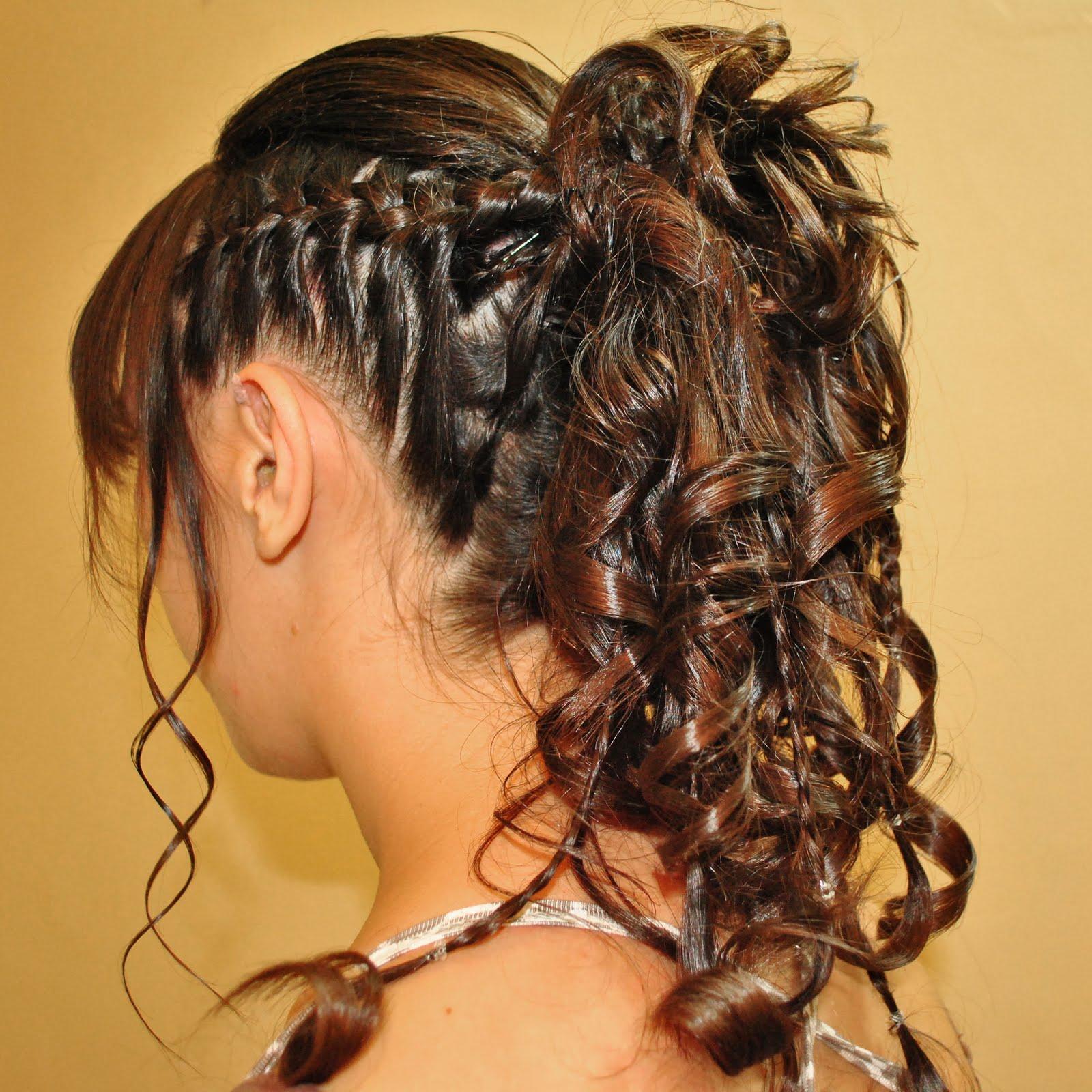 Diferentes versiones peinados para quinceañeras Galeria De Cortes De Cabello Estilo - Moda Cabellos: Peinados con Trenzas para Quinceañeras