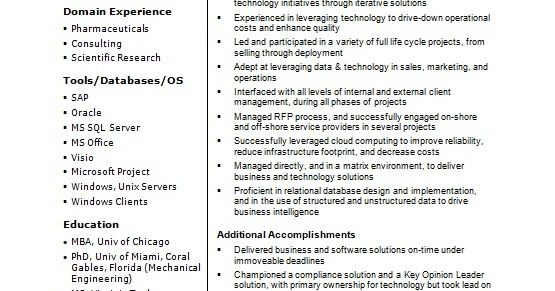 solutions delivery senior manager sample resume format in