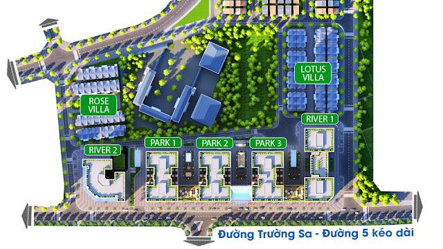 phân khu biệt thự, liền kề chung cư EuroWindow River Park