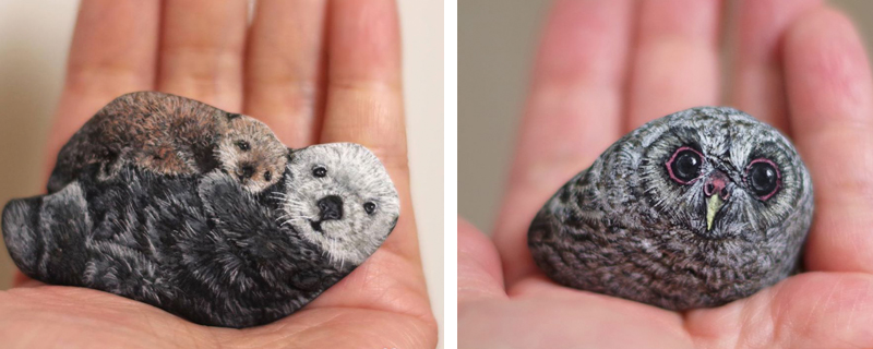 Akie Nakata, la artista de las piedras