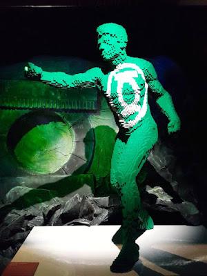 Green Lantern in lego bricks