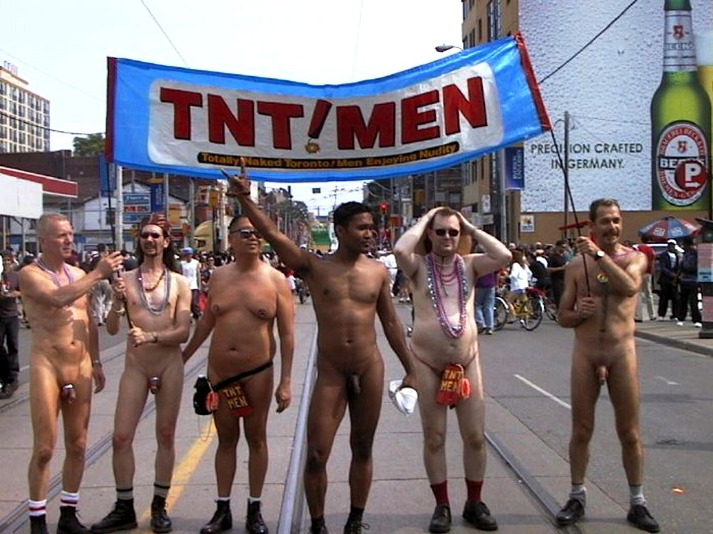 Gay pride parade nude men