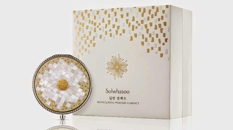 Sulwhasoo Shine Classic Powder Compact, Limited Edition, Sulwhasoo, 2014 Shine Classic Powder Compact, Korean Cosmetics, Sulwhasoo Malaysia, Mother Of Pearl, artist Hyun Kyung Lee, Sulwhasoo Shine Classic Multi-color Powder Compact, Korean Makeup, Korean Luxury Skincare Makeup Cosmetics