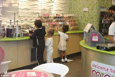 Kris Jenner and her grandkids step out for frozen yogurt looking like a million bucks