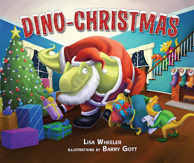 Dino-Christmas - Written in rhyming verse and paired with fun, bright illustrations, dinosaur lovers will want to join in the fun as they see Raptor, Stegosaurus, T-Rex, Triceratops, Diplodocus, and many more dinosaurs prepare for Christmas! #DinoChristmas #NetGalley #PictureBook #Christmas