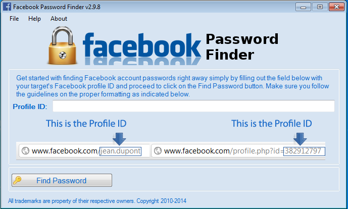 Facebook Password Finder 2.9.8 + Cracked+ Activation Code