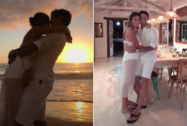 """Rebeca Abravanel e Alexandre Pato """"oficializam"""" namoro no Réveillon"""