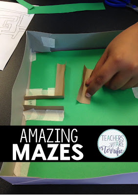 Take advantage of your students' curiosity with mazes and have them build a maze in STEM Class! Our mazes have some specific rules to follow and the kids love making those twists and turns. Can their marbles make it all the way through the finished maze! STEM Challenge Mazes are spectacular!