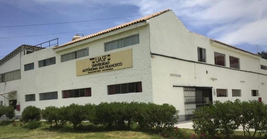 SUNEDU ordena el cierre de la Universidad Autónoma San Francisco - UASF (RES. Nº 029-2020-SUNEDU/CD) www.sunedu.gob.pe