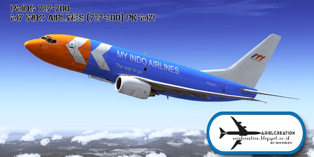 PMDG 737-700 My Indo Airlines (737-300) PK-MYI Livery FSX - Ariel