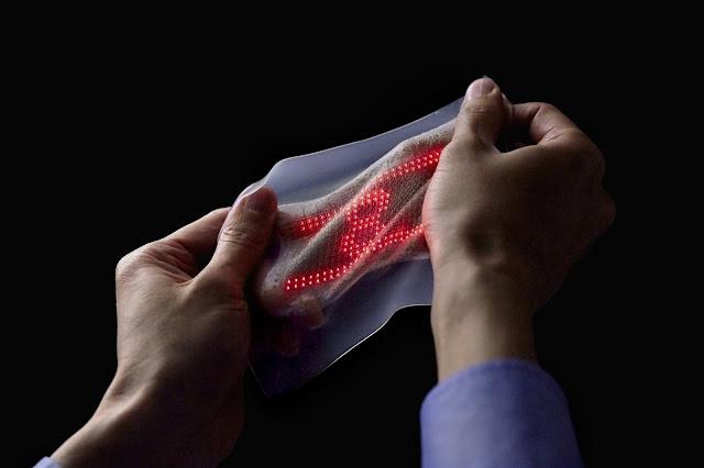 Pielea artificiala care poate afisa ritmul cardiac in timp real