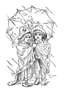 children rain umbrella image