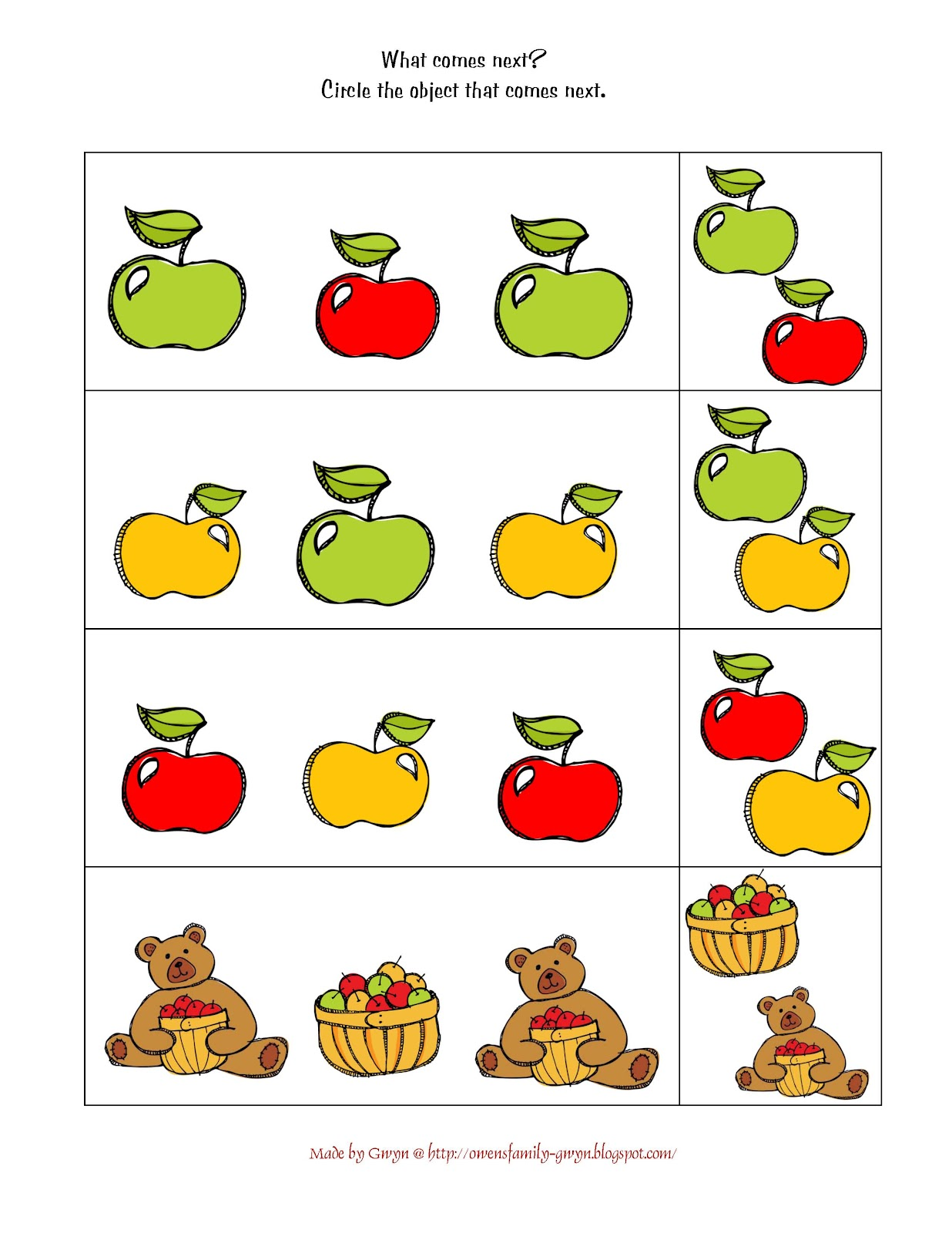Preschool Printables April
