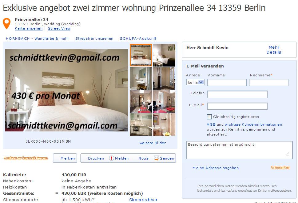 Schmidttkevin alias for Zwei zimmer wohnung berlin