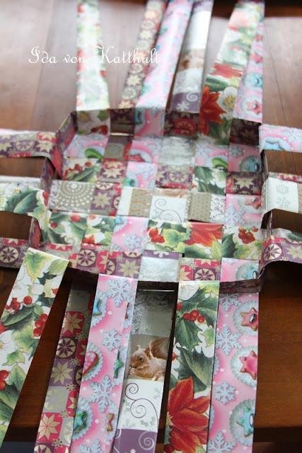 Idas Bloghaus: DIY: Korb aus Papier flechten