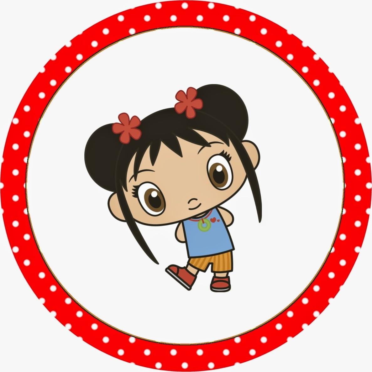 Toppers o Etiquetas de Ni Hao Kai Lan para imprimir gratis.
