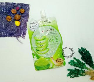 review smooto aloe-e snail bright gel