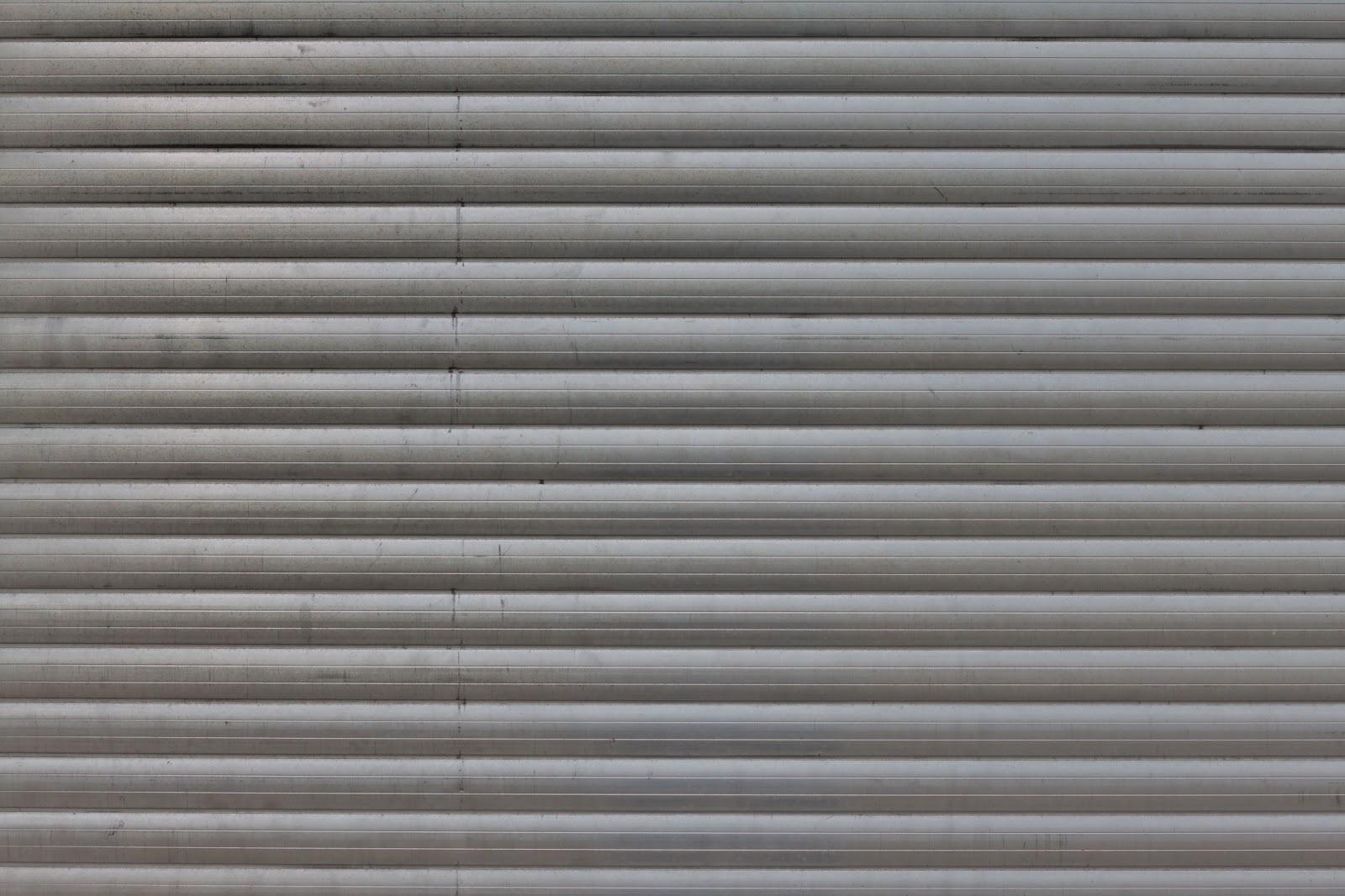 Exterior: HIGH RESOLUTION TEXTURES: Metal Aluminium Tin Shutter Door