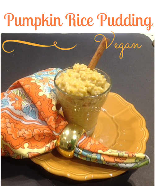 Vegan Rice pudding in a glass mug