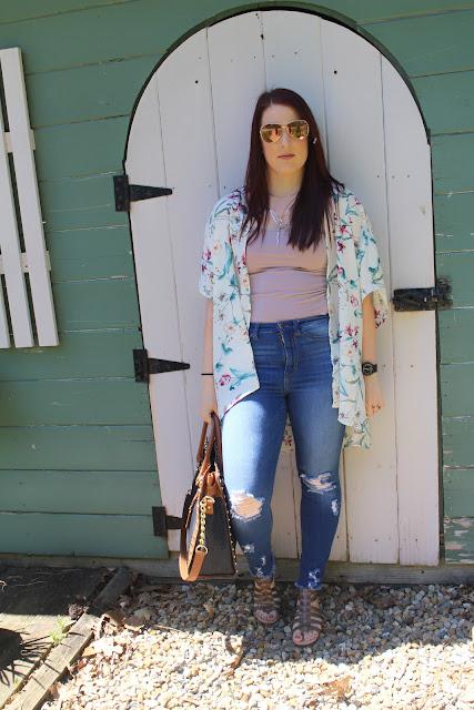 OOTD: Spring Fashion-Floral Kimonos