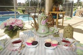 Christine S Home And Travel Adventures A Tea Party By The Pool For 2