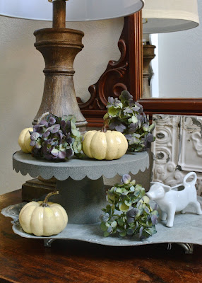 Galvanized, Fall, Baby Boos, Hydrangeas