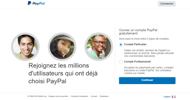 compte Paypal personnel