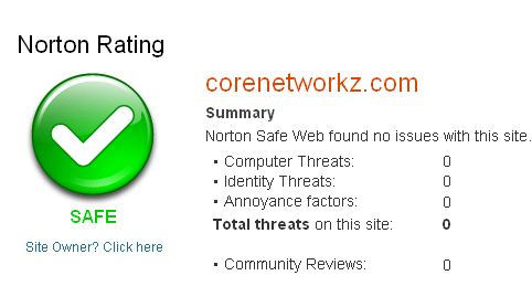 Norton Safe Browse to Check any website