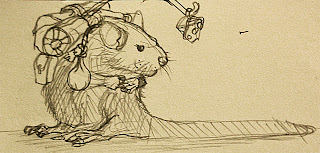 Initial concept of Lester the Rat
