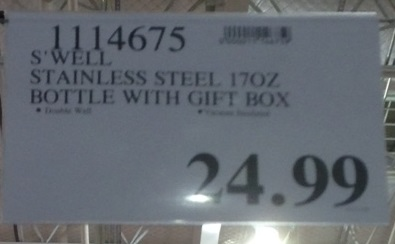 Deal for the 17oz S'well Stainless Steel 17oz Bottle with Gift Box at Costco