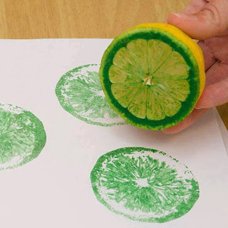 pintar con limón