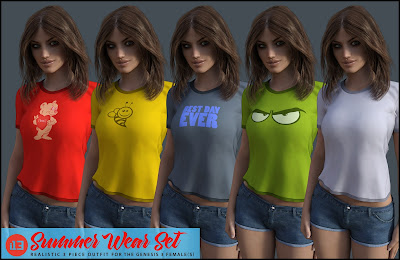 i13 Summer Wear Set for the Genesis 3 Female