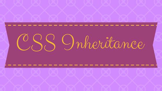 css inheritance