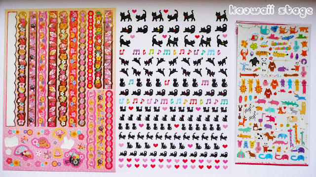 japon daiso stickers cute