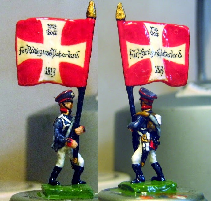 Hinton Hunt PN 22: Prussian Landwehr Colour Bearer