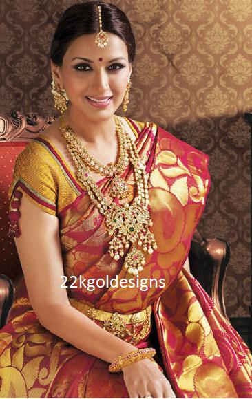 Sonali Bendre in Polki diamond Bridal Jewellery from Kalyana kanchi