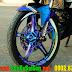 Sơn mâm xe Exciter 150 (Ex150) tem đấu chuyển màu cực đẹp