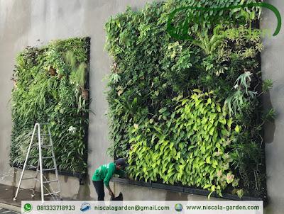 Jasa Pembuatan Taman Vertical Garden malang