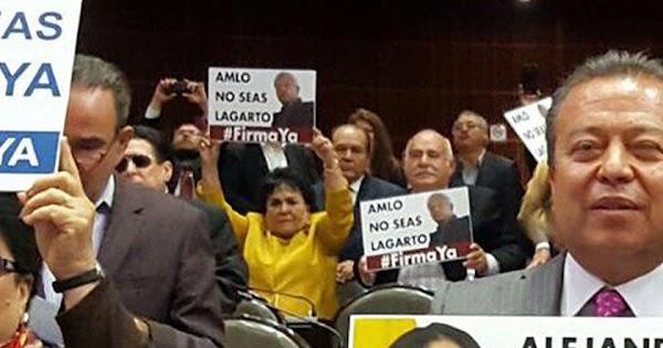 Diputados del PRI y Morena chocan por insultos contra AMLO (video)