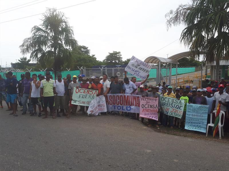 Protestas De La Comunidad Del Golfo De Morrosquillo Afectada Por Derrame De Petróleo