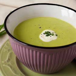 Krem supa od graška i mocarele