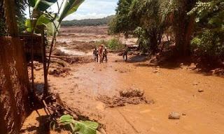 Barragem rompe em Brumadinho