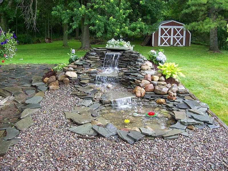 Back Yard Home: Pondless Waterfall Ideas Backyard Your Home on Small Backyard Waterfall Ideas id=78603